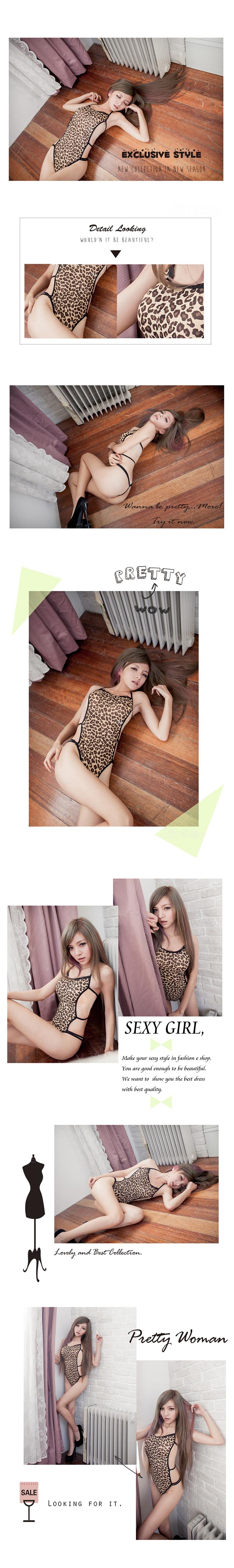 豹紋情趣內衣褲 豹紋性感內衣褲 性感內衣